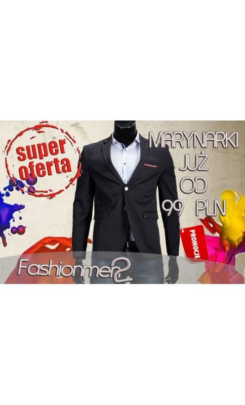 7f10f320b3af3 Marynarka męska wizytowa czerń - FashionMen