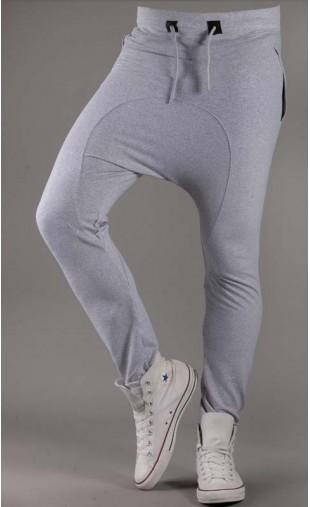 Spodnie dresowe szare Baggy