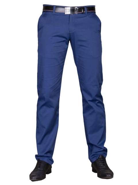 b3e5dd4589a22 Wizytowe spodnie niebieskie