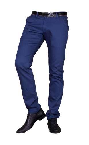 Spodnie wizytowe chinos niebieskie