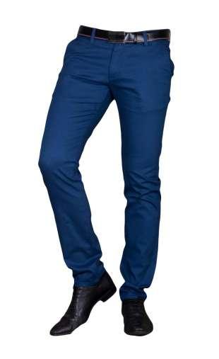 Spodnie wizytowe niebieskie