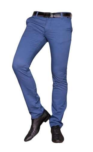 Spodnie męskie wizytowe niebieskie 9087 indygo