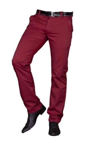 Spodnie męskie wizytowe bordo 1710
