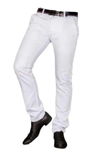 Spodnie męskie wizytowe białe 2430
