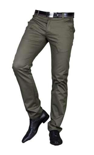 Spodnie męskie wizytowe ciemna oliwka 2300