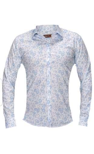 Koszula męska kwiaty biała G74