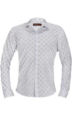 Koszula męska kwiaty biała G76