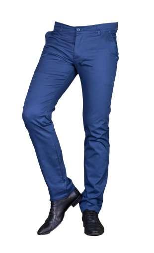Spodnie wizytowe niebieskie promo 2300