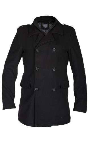 Płaszcz męskie dwurzędowy czarny CA 831