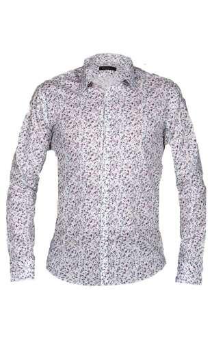 Koszula męska kwiaty biała G91