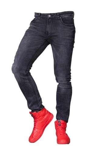 Spodnie Jeansowe rurki czarne 3258