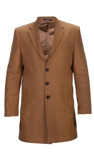Męski płaszcz długi camel 9007