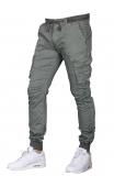 Spodnie joggery oliwkowe 8936-4