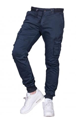 Spodnie joggery granatowe 8936-5