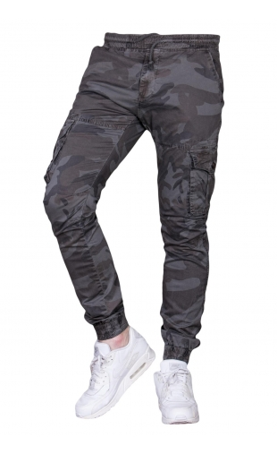 Spodnie moro joggery ściągacz 8907-4