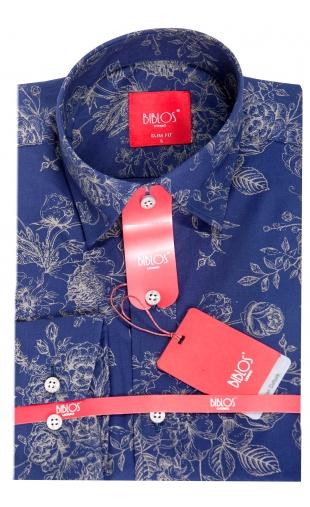 Koszula niebieska w kwiaty G18-470 G17