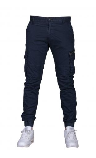 Spodnie joggery granatowe 8673-15