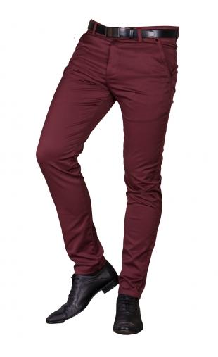 Spodnie wizytowe bordowe 2501