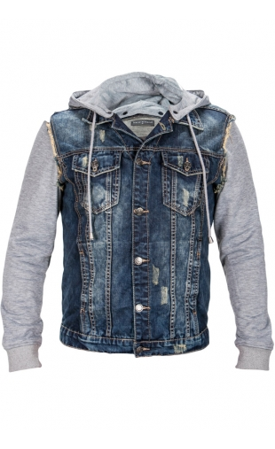 Kurtka jeans wycierana N017