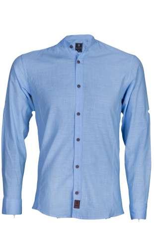 Koszula błękitna stójka sil-02