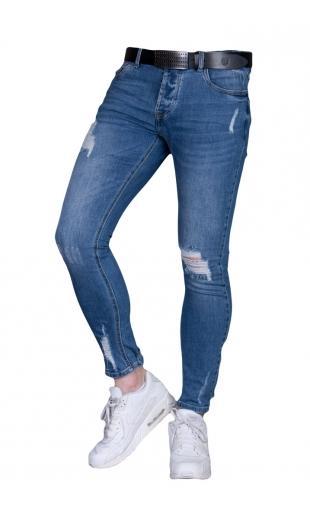 Spodnie Jeansowe rurki 7/8 KA285