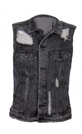 Kurtka jeans wycierana N021