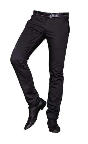 Spodnie męskie wizytowe czarne 1710D