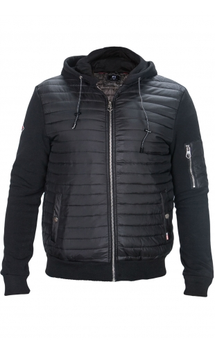 Bluza czarna pikowana Z-426