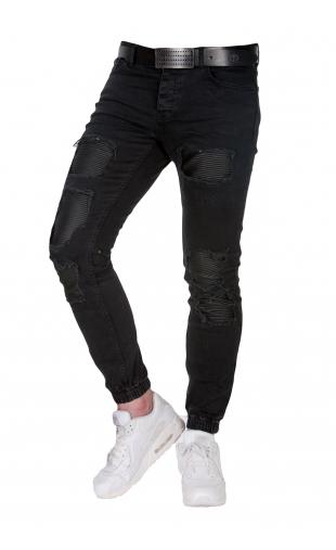 Spodnie joggery czarne 0820