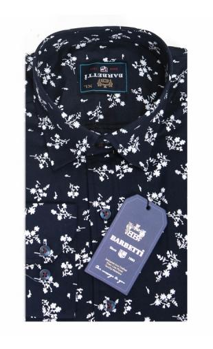 Koszula granatowa w kwiaty BB-01
