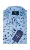 Koszula błękitna w kwiaty BB-01