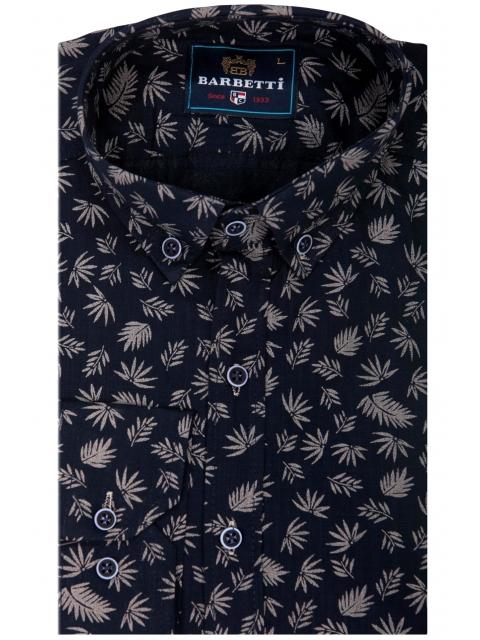 Koszula granatowa w kwiaty BB-02