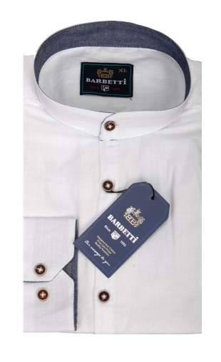 Koszula męska biała stójka BB-03