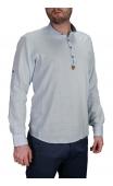 Koszula męska błękitna stójka BB-03