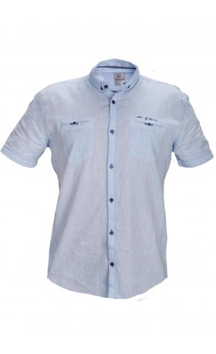 Koszula lniana błękitna BG-5416-04