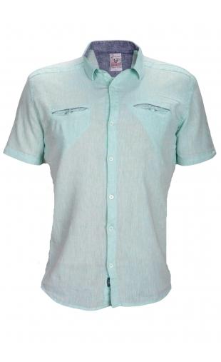 Koszula lniana seledynowa BG-5411-04