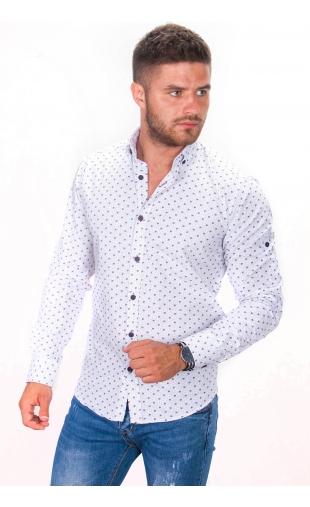 Koszula biała wzorek BB-05