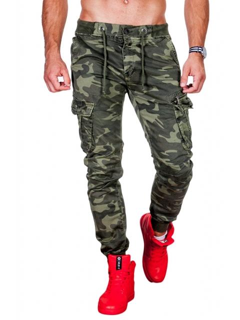 Spodnie moro joggery ściągacz 8909-4