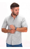 Koszula męska zielona stójka BB-07