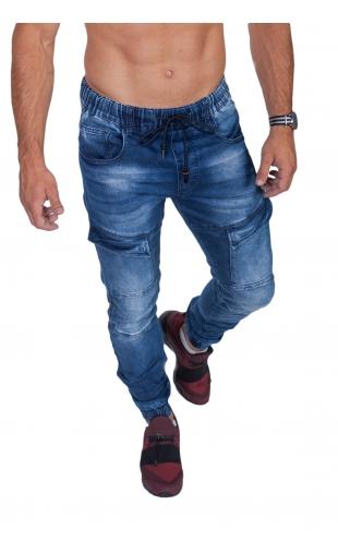Spodnie jeansowe joggery T763