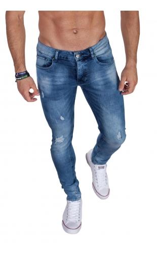 Spodnie jeansowe z lampasami NS