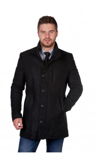 Płaszcz zimowy czarny 9026