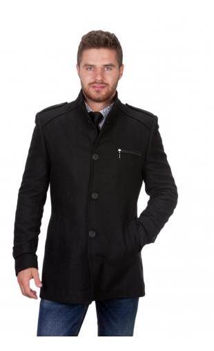 Płaszcz zimowy czarny 9019a
