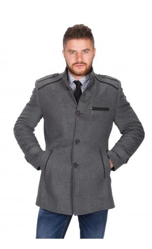 Płaszcz zimowy szary 9019