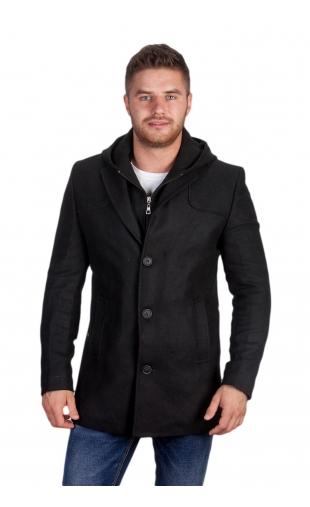 Płaszcz zimowy czarny 9017
