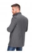 Płaszcz zimowy szary 9019a
