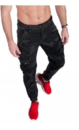 Spodnie joggery moro grafit 6009-4