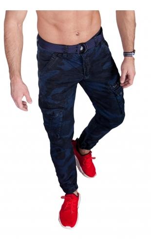 Spodnie joggery moro granat 6009-4