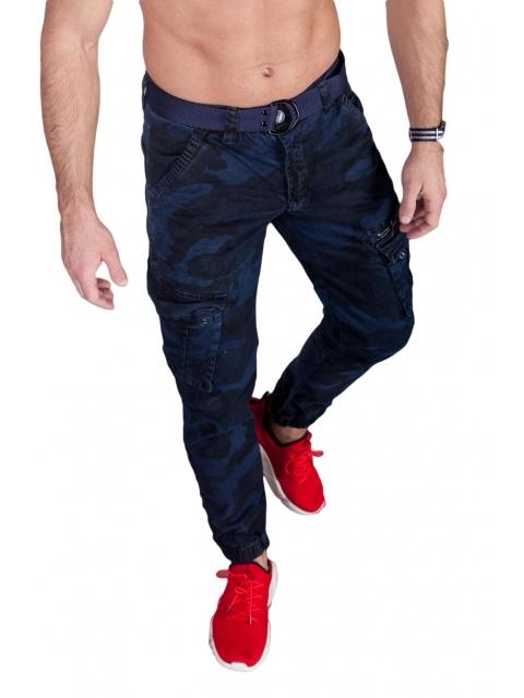 Spodnie joggery moro granat 6009-3