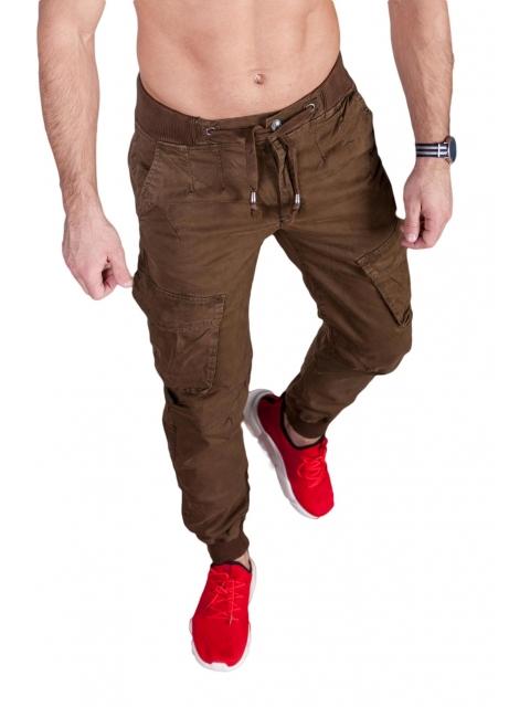 Spodnie joggery brązowe 6008-6